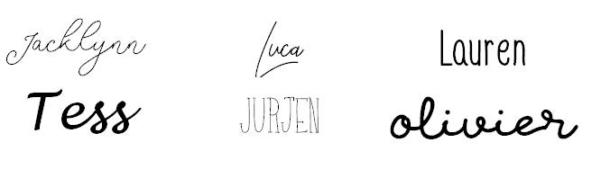 Optionele lettertypes
