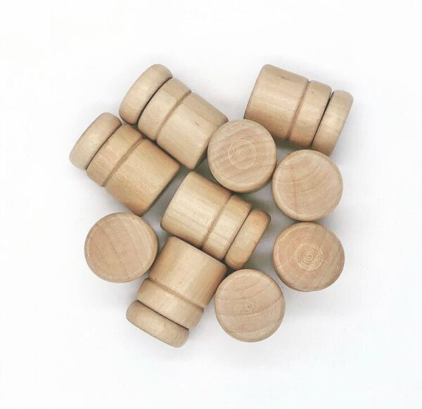 bewaarbakje potje hout schroefdop