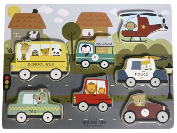 MM puzzle voertuigen